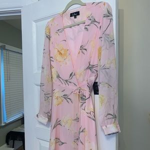 Lulus long pink floral dress
